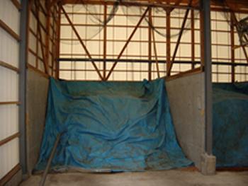 抗酸化工法を採用したゴミ処理場。