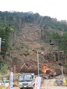熊本県菊池郡山崩れ現場