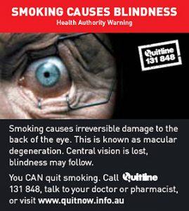 SMOKING CAUSES BLIGTNESS