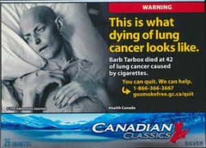 カナダの煙草パッケージ