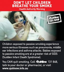 DON'T LET CHILDREN BREATHE YOUR SMOKE