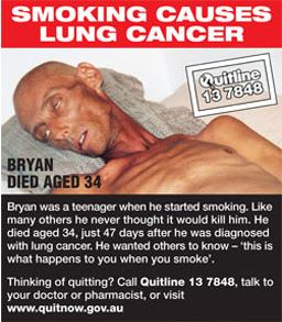 SMOKING CAUSES LUNG CANCER.