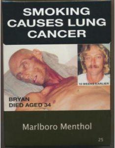 アメリカの煙草パッケージ