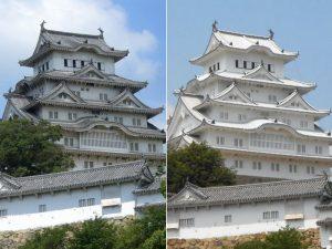 姫路城(改修前後)