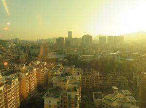 深圳の日の出