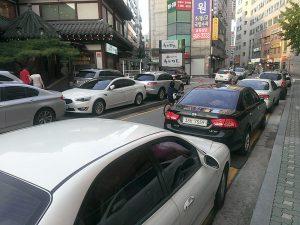 韓国の路上駐車事情