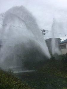 大阪北部地震・寝屋川市市水道管破裂