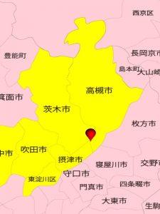 大阪北部地震・震源地