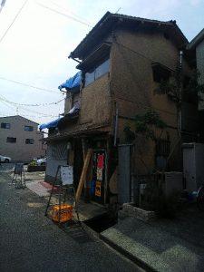 大阪北部地震・赤紙が貼られた家屋①