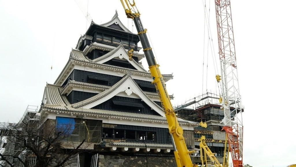 熊本城天守閣の復旧状況(2019年2月19日時点 )