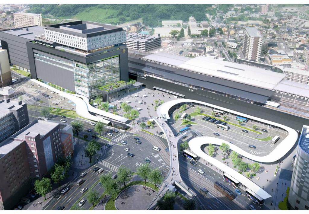 熊本駅周辺開発イメージ