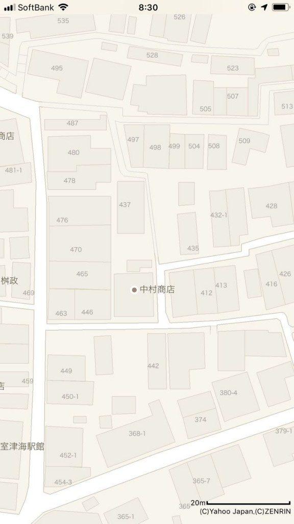ヤフーマップ(左)と、ゼンリンとの契約を解除したGoogle Map(右)を比較。細い道が驚くほどごっそり省略されている。Yahoo!マップ
