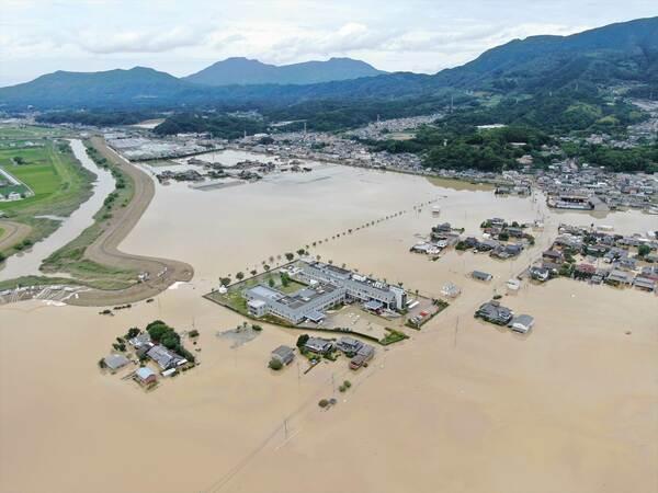 佐賀県大町町浸水