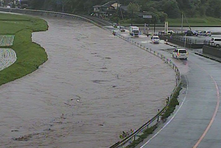 佐賀県武雄市・松浦川氾濫