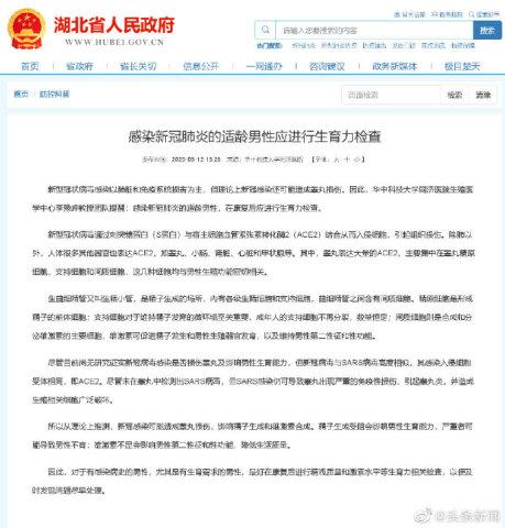 中国湖北省人民政府公式Web site