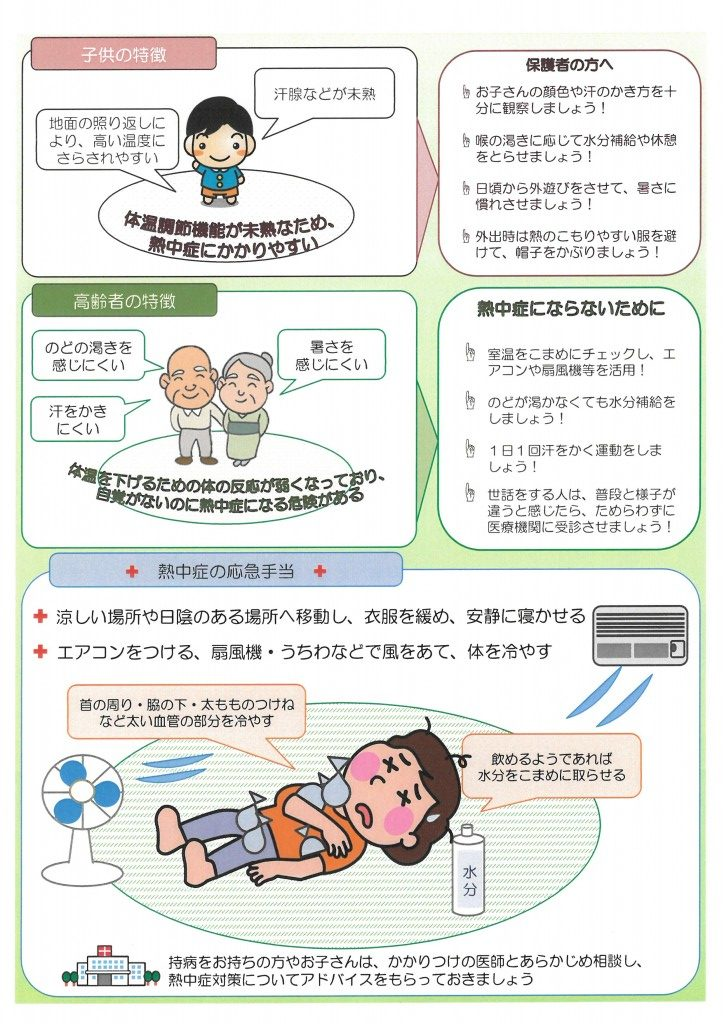消防庁・熱中症対策リーフレット③