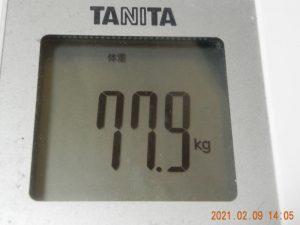 2021年2月9日 入浴 20 分経過後・体重